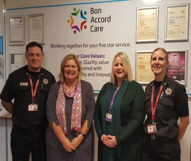 The Scottish Fire and Rescue Service working in Partnership with  Bon Accord Care