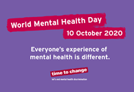 World Mental Health Day – 10th October 2020
